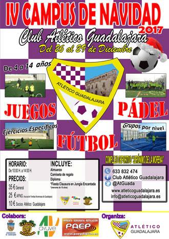 Ya está abierto el plazo de inscripción para el IV Campus de Navidad del Atlético Guadalajara