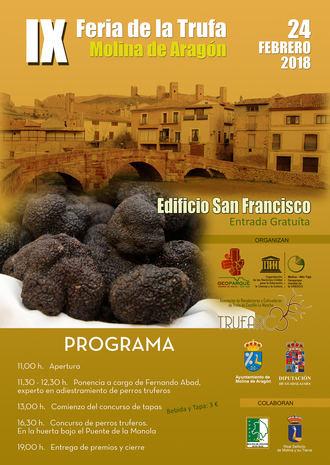 La IX Feria de la Trufa del Geoparque de la Comarca de Molina /Alto Tajo se desarrollará el próximo sábado 24 de febrero