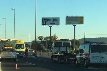 Vuelve la normalidad a la A-2 tras varias horas cortada en Guadalajara por el choque de tres camiones