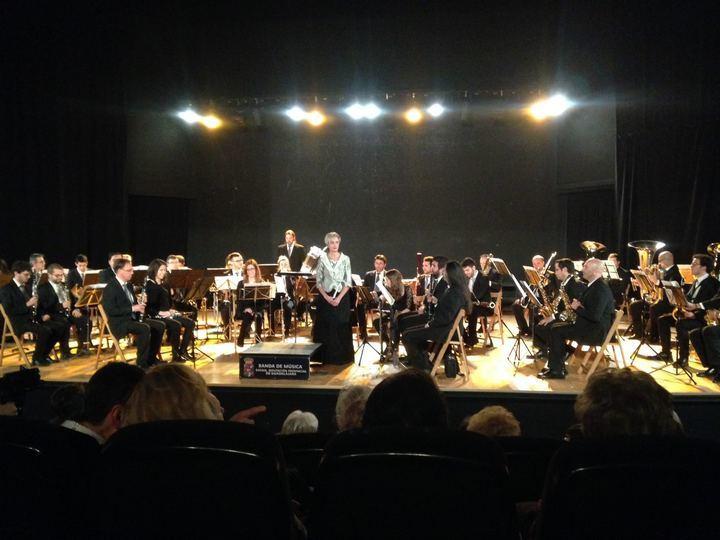 El presidente de la Diputación de Guadalajara asiste al Concierto de la Banda Provincial en Alcalá de Henares