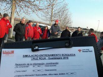 Los voluntarios del Grupo de Búsqueda de Cruz Roja Guadalajara se forman en diferentes capacidades