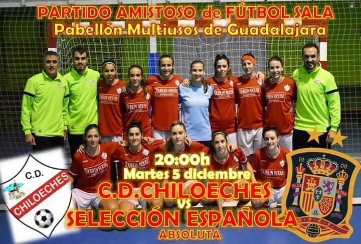 El C.D. Chiloeches se enfrentará a la Selección Española en un amistoso