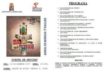 La Escuela de Folklore de Diputación celebrará su 'Fiesta de Navidad' el miércoles 13 en el San José