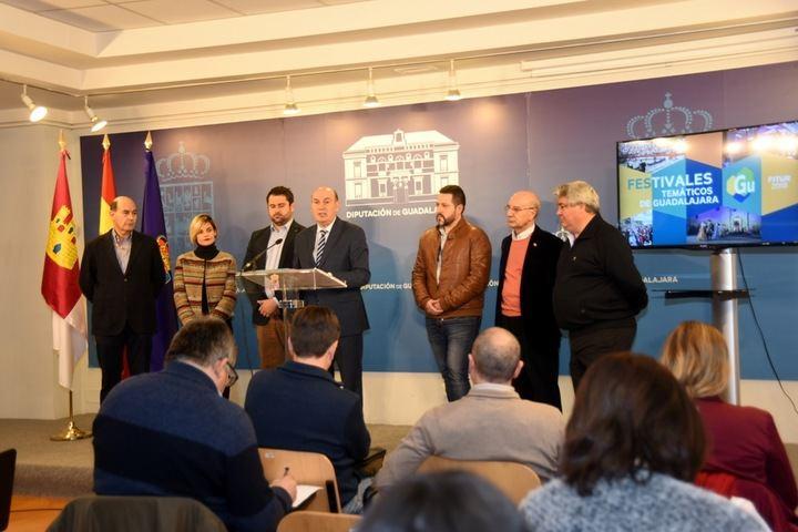 'Literatura y vida' y 'Festivales temáticos' serán las propuestas turísticas de la Diputación en FITUR 2018 aunando la diversidad de la provincia