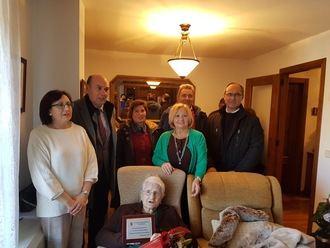 Agustina Pérez Barrio cumplió cien años en Sigüenza