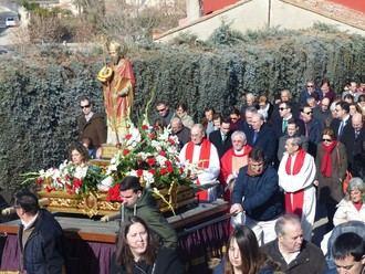 El presidente de la Diputación asiste a la festividad de San Blas en Cabanillas del Campo