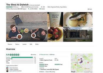 Llega a ser el mejor restaurante de Londres, según Tripadvisor y el restaurante...¡no existe!