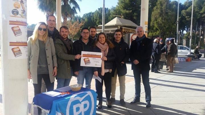 Los jóvenes de CLM del PP conmemoran el aniversario de la Constitución Española