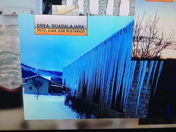 La masa de aire frío congela a la provincia de Guadalajara : Molina de Aragón y Sigüenza marcan -11,9ºC y -8,9ºC en Orea