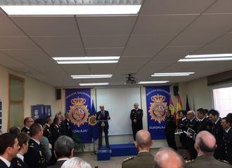 Sánchez-Seco preside en Guadalajara el acto del 194 aniversario de la creación de la Policía Nacional