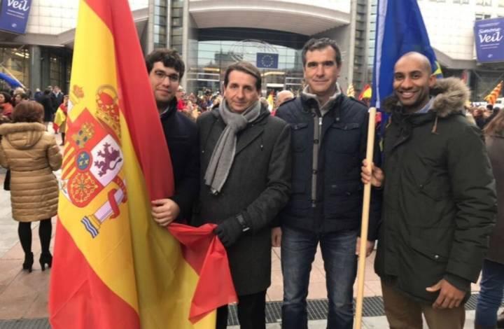 El alcalde de Guadalajara, Antonio Román homenajea a la Constitución de España en Bruselas