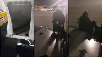 Un pasajero de Ryanair sale por el ala del avión tras cansarse de esperar en Málaga