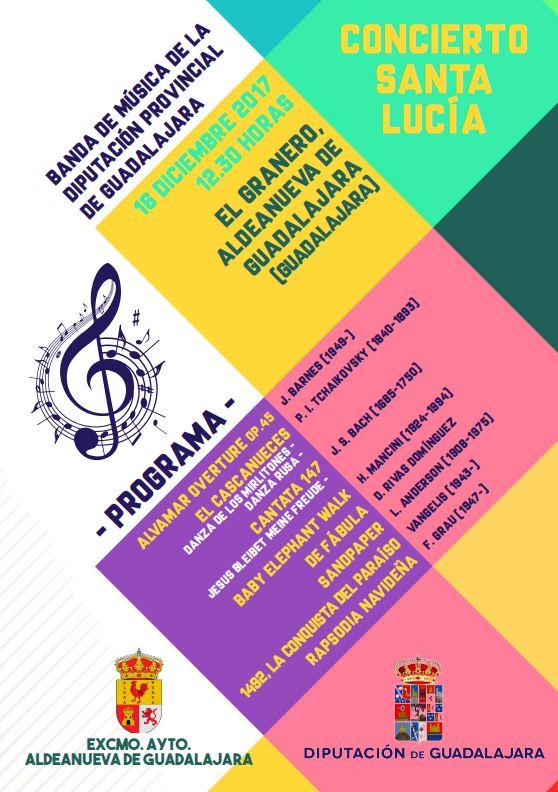 La Banda de la Diputación ofrecerá un Concierto de Santa Lucía en Aldeanueva de Guadalajara