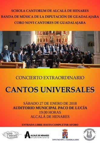 Concierto de la Banda de la Diputación, Novi Cantores y la Schola Cantorum en Alcalá de Henares