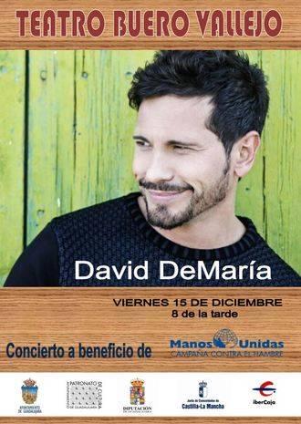 David de María protagoniza el concierto de Navidad de Manos Unidas en Guadalajara