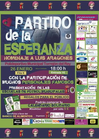 Torrejón del Rey acogerá un partido solidario que homenajeará a Luis Aragonés