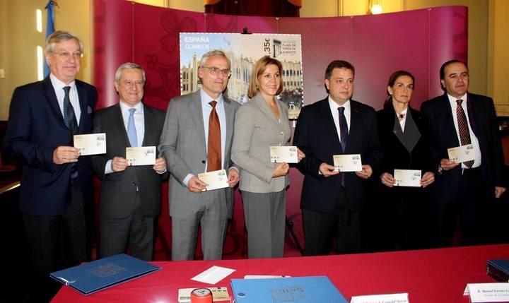 Correos presenta el sello dedicado a la Plaza de Toros de Albacete con motivo de su Centenario