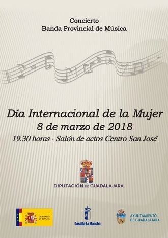 La Diputación organiza un concierto de la Banda de Música para conmemorar el Día Internacional de la Mujer
