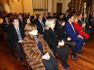 La lluvia no impidió que la Diputación de Cuenca cumpliera con la tradición de asistir a la Misa del Viernes de Dolores en las Angustias