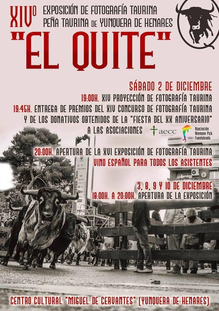 """La Peña Taurina """"El Quite"""" celebra este Sábado la entrega de premios de su XIV Concurso de Fotografía Taurina"""