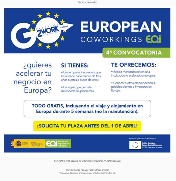 El CEEI de Guadalajara colabora en la cuarta edición del programa 'European Coworkings'