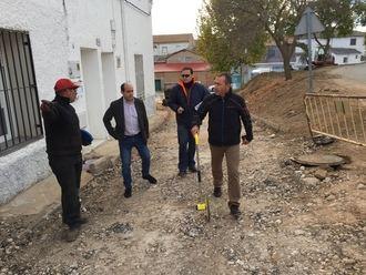 Obras de renovación de redes y pavimentación en Valdearenas, Cendejas de Enmedio, Málaga del Fresno y Membrillera