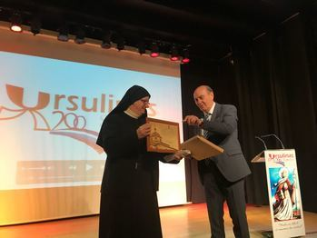El presidente de la Diputación felicita a las Reverendas Madres Ursulinas de Sigüenza en su bicentenario y resalta su gran labor docente en estos años