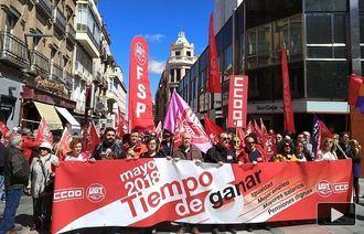 2.000 personas según los sindicatos y 1.300 según la Policía se han manifestado este Primero de Mayo en Guadalajara