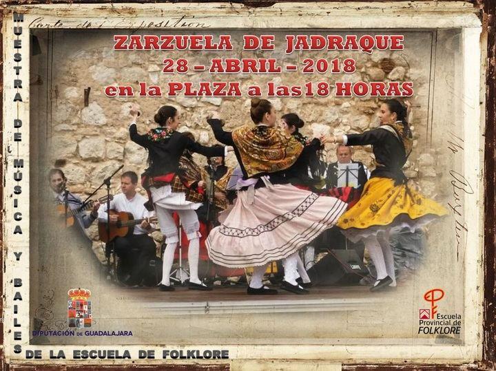 Muestra de música y bailes tradicionales de la Escuela de Folklore de la Diputación mañana sábado en Zarzuela de Jadraque