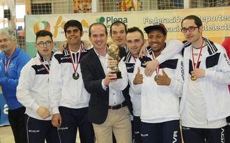Alberto Rojo felicita a los participantes del Campeonato regional de Fútbol Sala inclusivo, celebrado el fin de semana en Guadalajara