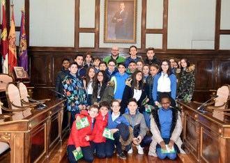 Escolares de la ESO del Colegio Maristas visitan la Diputación Provincial