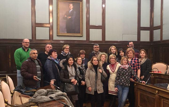 Un grupo de profesores del programa Erasmus+ visita la Diputación de Guadalajara