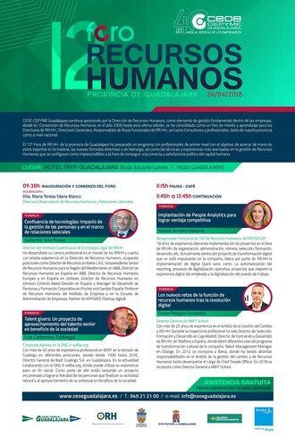 El 24 de abril se celebrará el 12º Foro de Recursos Humanos de Guadalajara