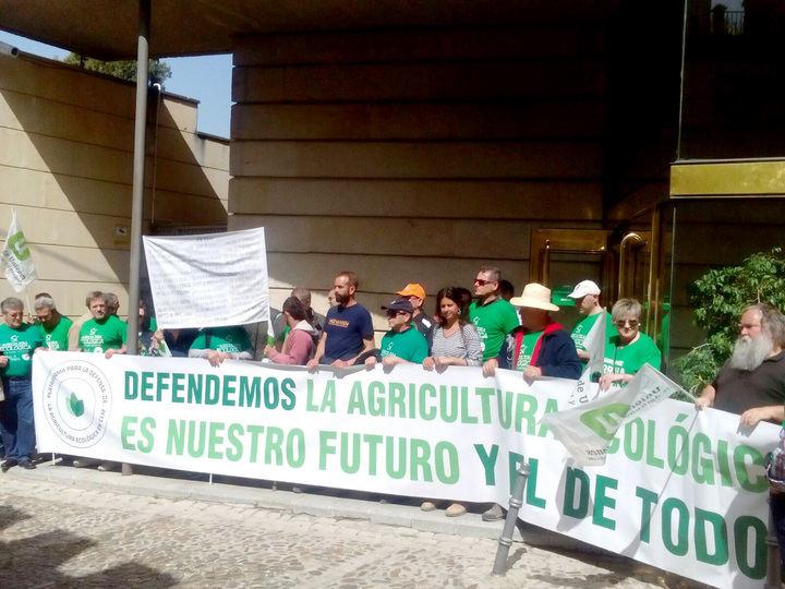 Los agricultores ecológicos se encierran en la Consejería de Agricultura hasta que les reciba Page