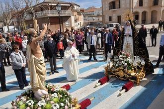 La Procesión del Encuentro pone el broche a una emotiva Semana Santa en Yebra