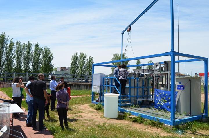 La EDAR de Guadalajara recibe una visita técnica a su planta piloto del proyecto 'Life+Transfomem'
