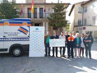 El Ayuntamiento de Brihuega, con la colaboración de La Caixa, adquiere una ambulancia de Soporte Vital Básico