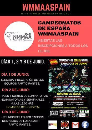 """Yunquera de Henares acogerá este sábado 2 de junio el """"Campeonato de España de WMMAA"""""""