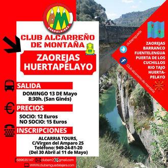 Próximo objetivo del Club Alcarreño de Montaña, Zaorejas/Huertapelayo