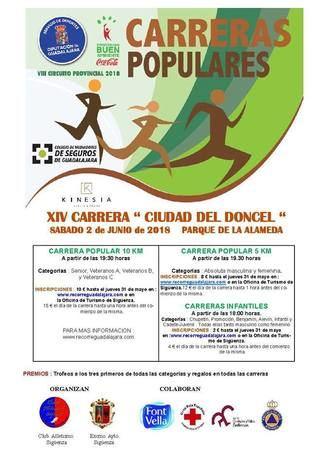 El sábado 2 se celebrará en Sigüenza la XIV Carrera Popular