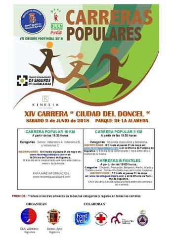 El sábado 2 se celebrará en Sigüenza la XIV Carrera Popular 'Ciudad del Doncel'