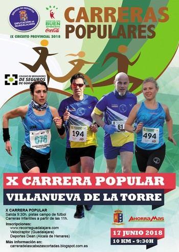 Este domingo se celebra la X Carrera Popular de Villanueva de la Torre, quinta prueba del Circuito Diputación