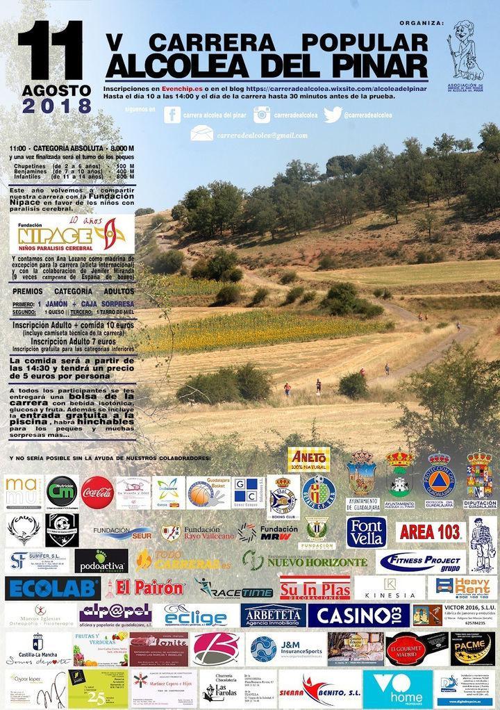 Abierto el plazo de inscripción para la V Carrera de Alcolea del Pinar a favor de Nipace