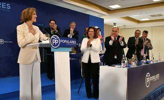 """Cospedal se postula para liderar el PP: """"Quiero ser la primera mujer que presida España"""""""