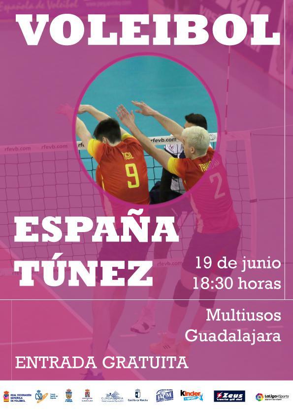 Esta martes en el Multiusos, partido amistoso entre las selecciones de voley masculino de España y Túnez