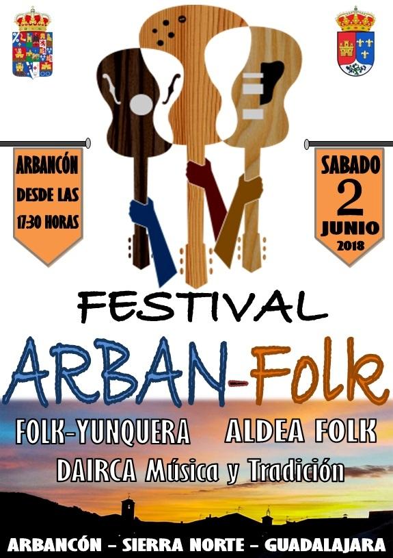 El próximo sábado 2 de junio, primer festival 'Arban-Folk' en Arbancón