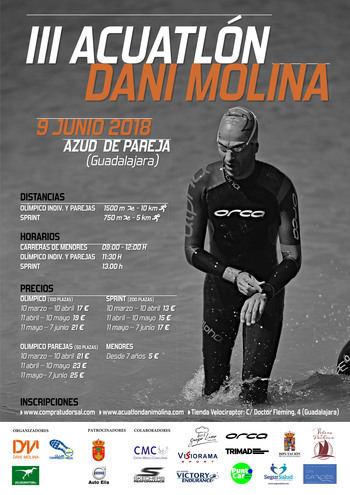 El 9 de junio, III Acuatlón 'Dani Molina' en Pareja