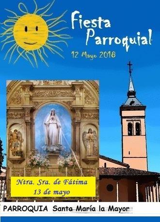 Fiesta parroquial en la Concatedral de Santa María la Mayor entre el 12 y el 13 de mayo