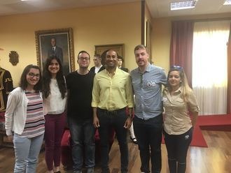 Armengol Engonga recibe a la nueva Asociación de Sordos de Guadalajara