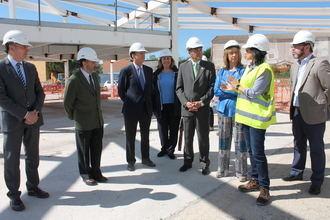 El delegado del Gobierno en Castilla-La Mancha visita las obras del Parador de Molina de Aragón